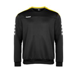 Zwarte Hummel Valencia sweater met gele tint