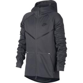 Nike tech fleece hoodie junior grijs