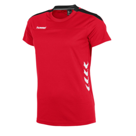 Rood Hummel Valencia T shirt met korte mouwen voor dames
