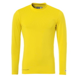 Geel ondershirt / thermoshirt junior en senior Uhlsport