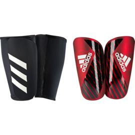 Adidas X Pro scheenbeschermers met sok rood - zwart