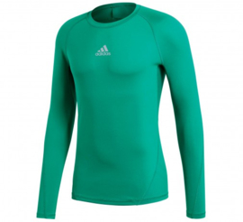 Adidas thermoshirt  groen lange mouw