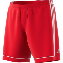 Rode voetbalbroek Adidas met witte strepen Squad