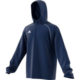 Blauwe junior regenjas Adidas Core 18