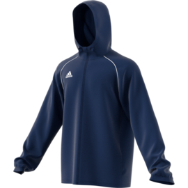 Blauwe regenjas Adidas Core 18 All weather Jack