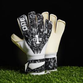 2 Paar Zwart witte One Glove keepershandschoenen Blade met 20% korting