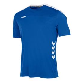 Lichtblauw Hummel Valencia shirt met korte mouwen