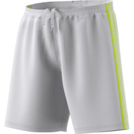 Grijze korte broek Adidas gele strepen Condivo 18
