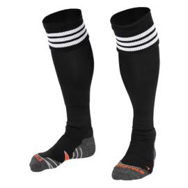 Zwarte sokken met witte ringen