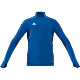Lichtblauwe Adidas Tiro 17 sweater junior