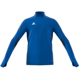 Lichtblauwe Adidas Tiro 17 sweater junior