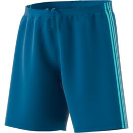 Blauwe korte broek Adidas lichtblauwe strepen Condivo 18