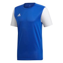 Junior blauw Estro 19 Adidas shirt met korte mouwen