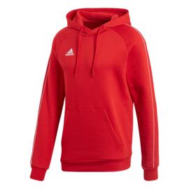 Rode Adidas hoody met capuchon Core 18