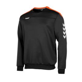 Zwarte Hummel Valencia sweater met oranje tint