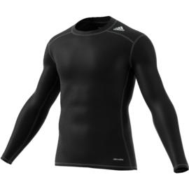 Adidas thermoshirt tech fit Base zwart lange mouw