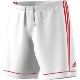 Witte voetbalbroek Adidas met rode strepen Squad