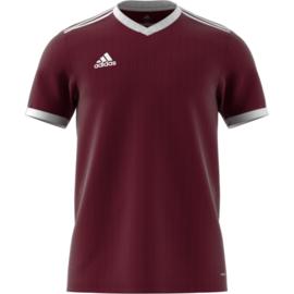 Maroon Adidas shirt junior met korte mouwen