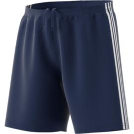 Blauwe korte broek Adidas witte strepen Condivo 18
