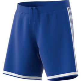 Blauwe sportbroek Adidas met witte strepen Regista 18