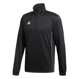 Zwarte Adidas trainingstop Core 18 met korte rits