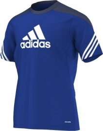 Adidas trainings shirt blauw