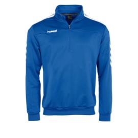Lichtblauwe trainingstop van Hummel met korte rits