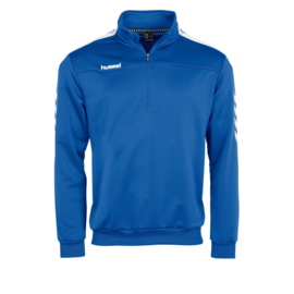Lichtblauwe trainingstop kind van Hummel met korte rits