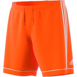 Oranje voetbalbroek Adidas met witte strepen Squad