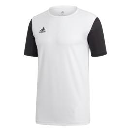 Junior wit Estro 19 Adidas shirt met korte mouwen