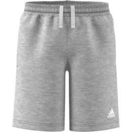 Korte grijze Adidas broek van stof