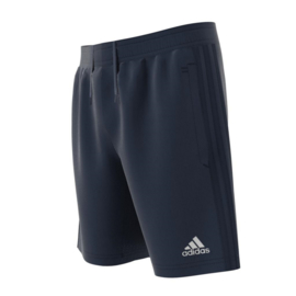 Korte blauwe broek Adidas met blauwe strepen Tiro 17