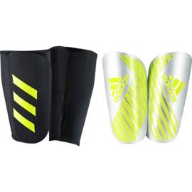 Adidas X Pro scheenbeschermers met sok zilver - geel