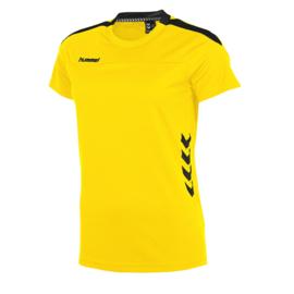 Gele Hummel Valencia T shirt met korte mouwen voor dames