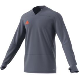 Grijze V Hals sweater trui Adidas condivo 18