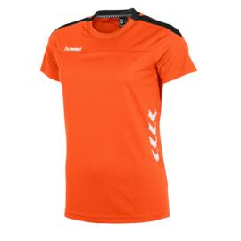 Oranje Hummel Valencia T shirt met korte mouwen voor dames