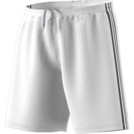 Witte korte broek Adidas zwarte strepen Condivo 18