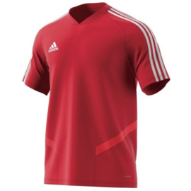 Adidas Tiro 19 training junior jersey rood shirt korte mouw