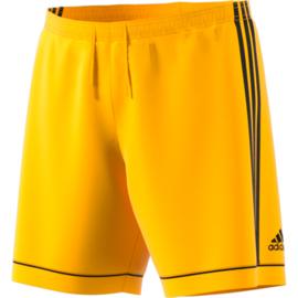 Gele voetbalbroek Adidas met zwarte strepen Squad