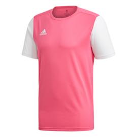 Junior Roze Estro 19 Adidas shirt met korte mouwen