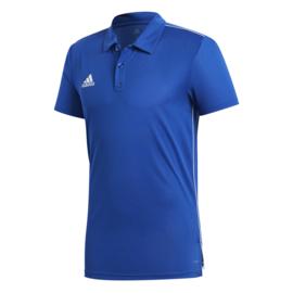 Lichtblauwe Adidas polo Core 18