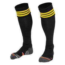Zwarte sokken met gele ringen