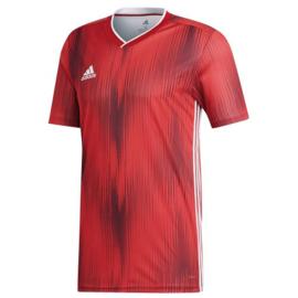 Adidas Tiro 19 rood shirt korte mouw