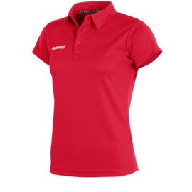 Rode sportieve dames polo van Hummel