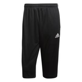 Driekwart zwarte broek van Adidas Core 18