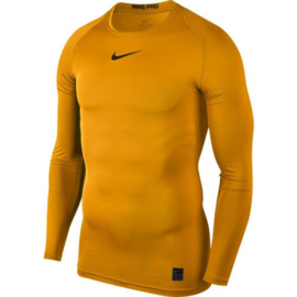 Nike thermoshirt geel