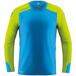 Blauw groen keepersshirt Uhlsport met elleboogbescherming