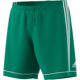 Groene voetbalbroek Adidas met witte strepen Squad