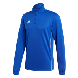 Blauwe Adidas trainingstop Core 18 met korte rits