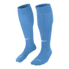 Lichtblauwe Nike voetbalsokken
